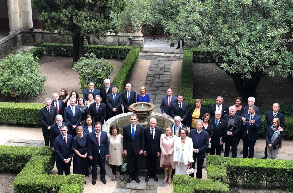 Los Itinerarios Culturales del Consejo de Europa reciben el XIII Premio Europeo Carlos V de manos del Rey Felipe VI