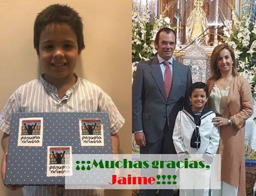 Jaime dona 1.000 euros de su primera omunión a la ONG Pequeña Nowina
