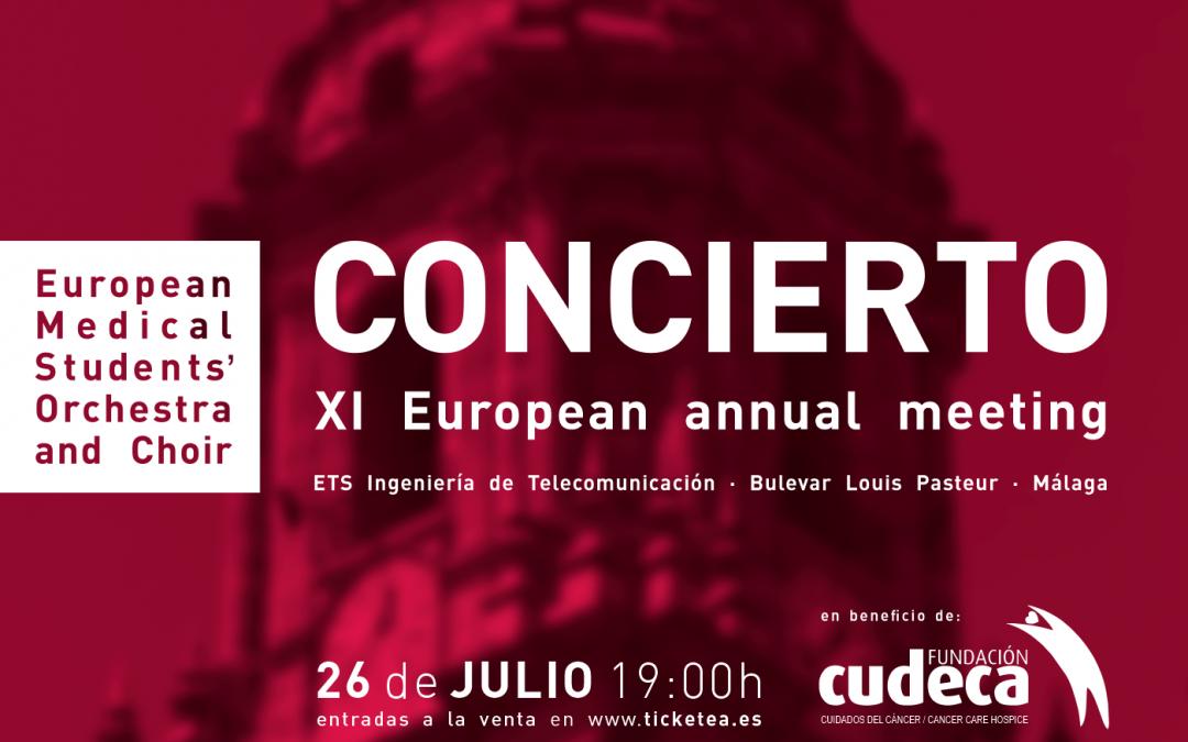 Málaga. Gala solidaria Facultad de Medicina Concierto Orquesta EMSOC a beneficio de Fundación Cudeca