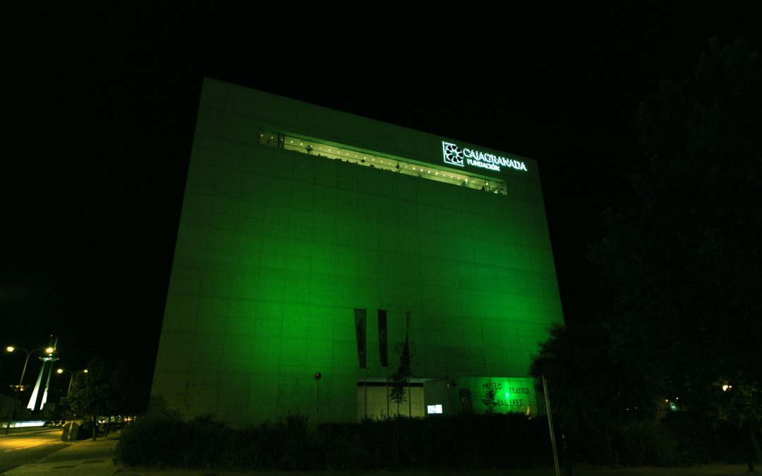 El Centro Cultural Memoria de Andalucía se 'vistió' de verde para visibilizar la lucha contra la ELA