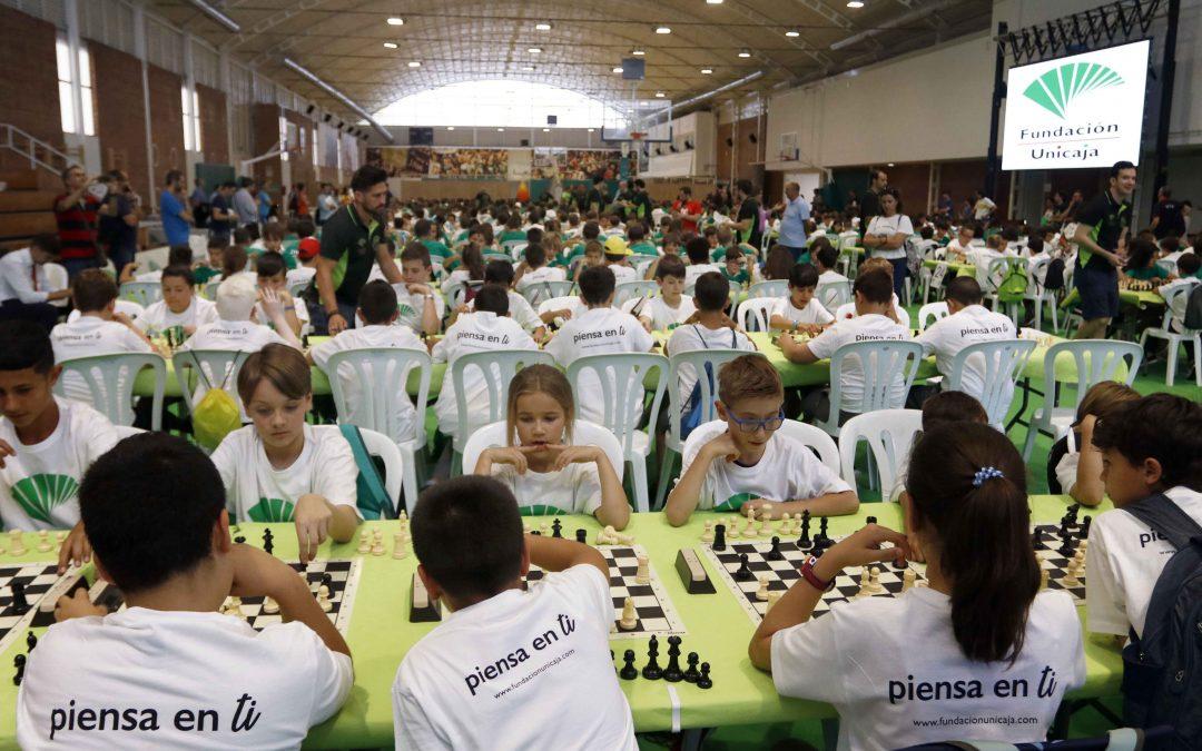La final de la II Liga Escolar de Ajedrez Fundación Unicaja reúne a 600 escolares