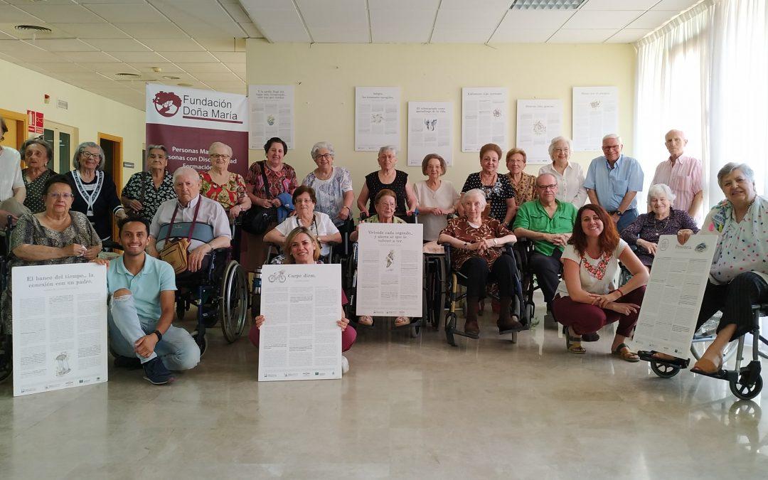 La exposición '20 Historias de Compasión' llega a la Fundación Doña María con testimonios reales sobre el privilegio de cuidar