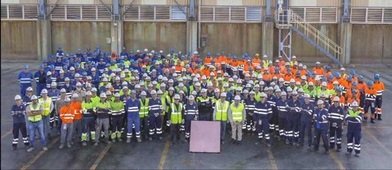 La planta de Cobre Las Cruces cumple diez años con casi 600.000 toneladas de metal producidas