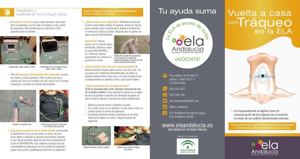 """Nuevo folleto informativo sobre la """"Vuelta a Casa con Tráqueo en la ELA"""""""