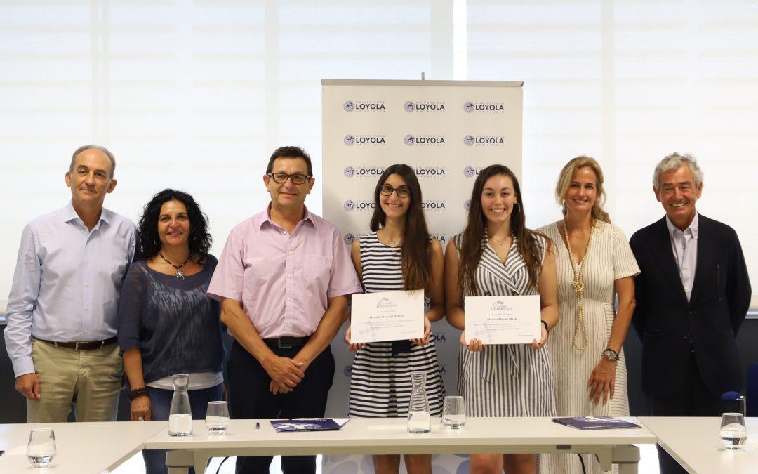 La Universidad Loyola y la Fundación Alalá becan a dos estudiantes para estudiar Psicología y Comunicación el próximo curso