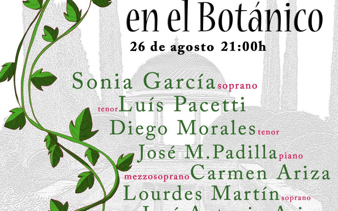 Málaga. Gala de Zarzuela a beneficio de CUDECA en el Jardín Botánico