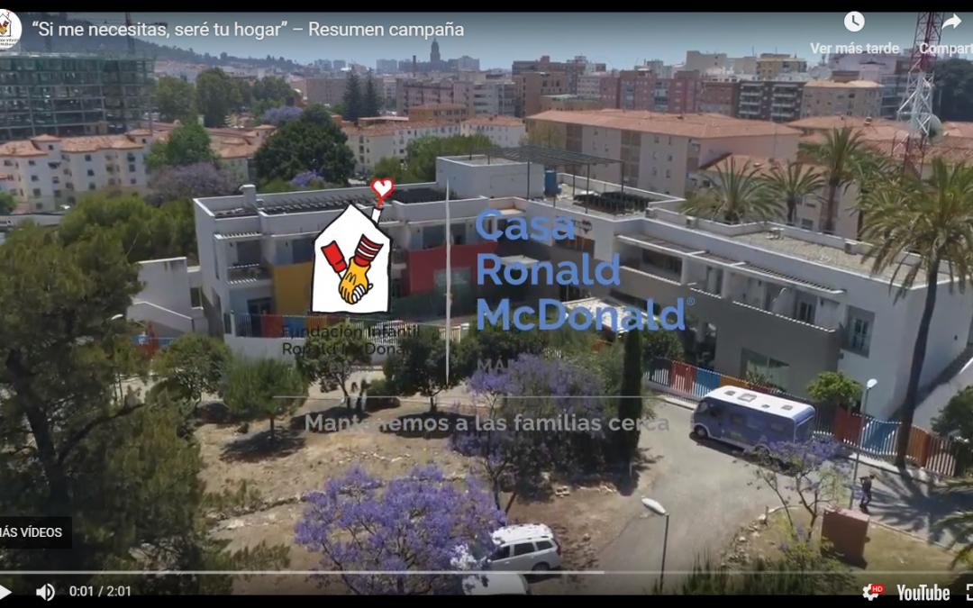 """Resumen de la campaña de Casa Ronald McDonald """"Si me necesitas, seré tu hogar"""""""
