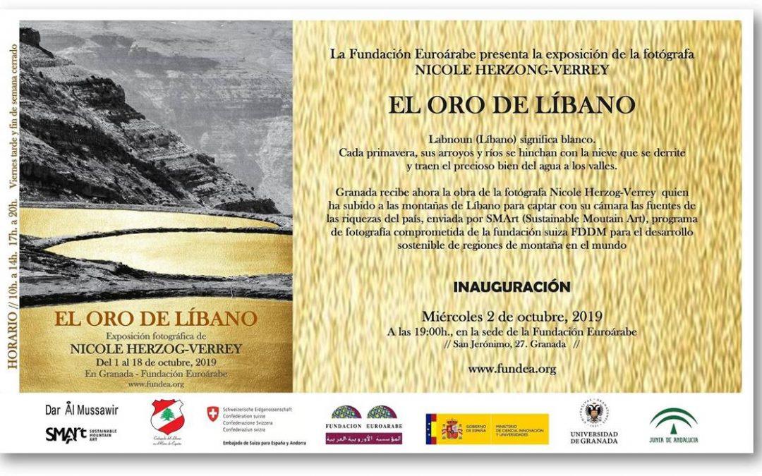 La Fundación Euroárabe presenta la exposición de Nicole Herzog-Verrey, «El oro de Líbano»