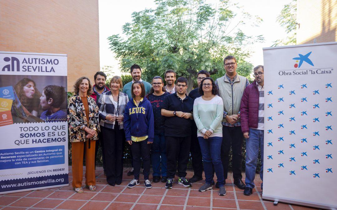CaixaBanky Autismo Sevilla fomentan la creatividad artística de personas con TEA através de un belén social