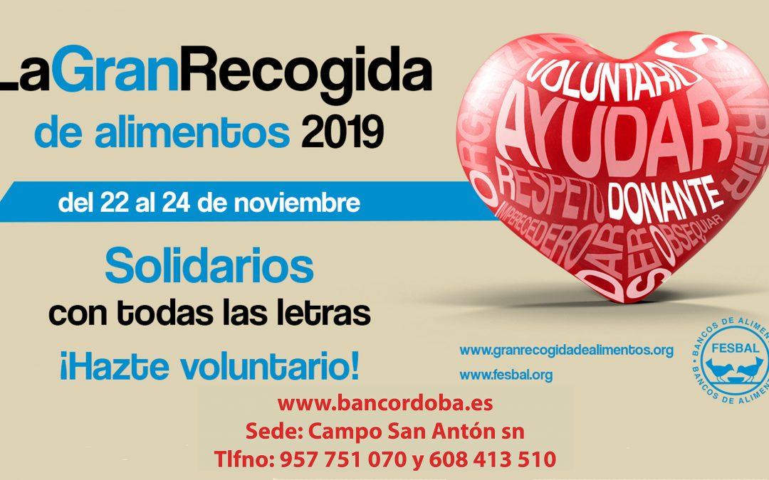 El Banco de Alimentos de Córdoba espera superar los tres mil voluntarios en la Gran Recogida