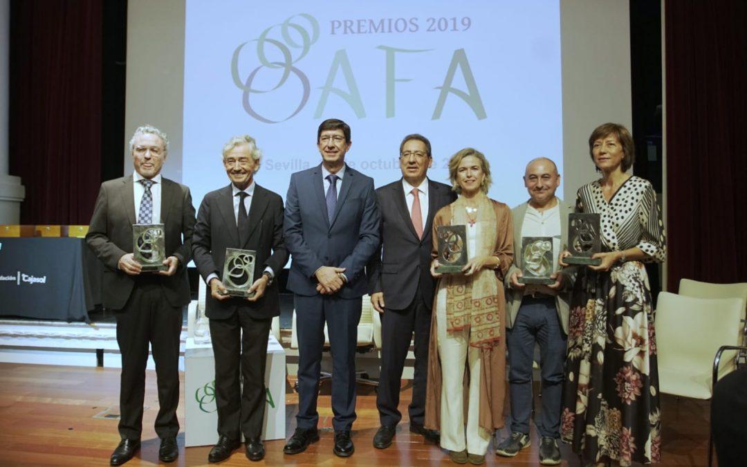 La Fundación Konecta, la Asociación Provincial de Síndrome de Down de Sevilla, la Fundación Esperanza para la Cooperación y Desarrollo, la Fundación Prode y José Luis García Palacios reconocidos en los Premios AFA 2019