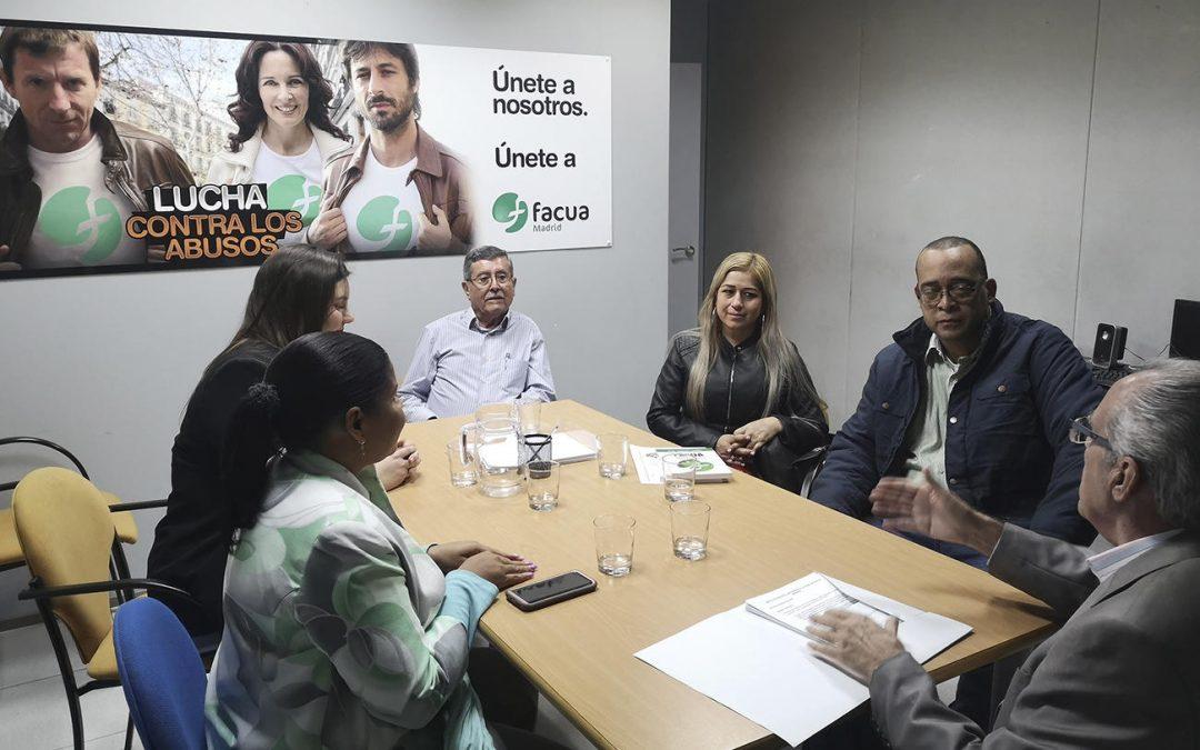 La Fundación FACUA recibe a una representante de las asociaciones panameñas Ipadecu y Uncurepa