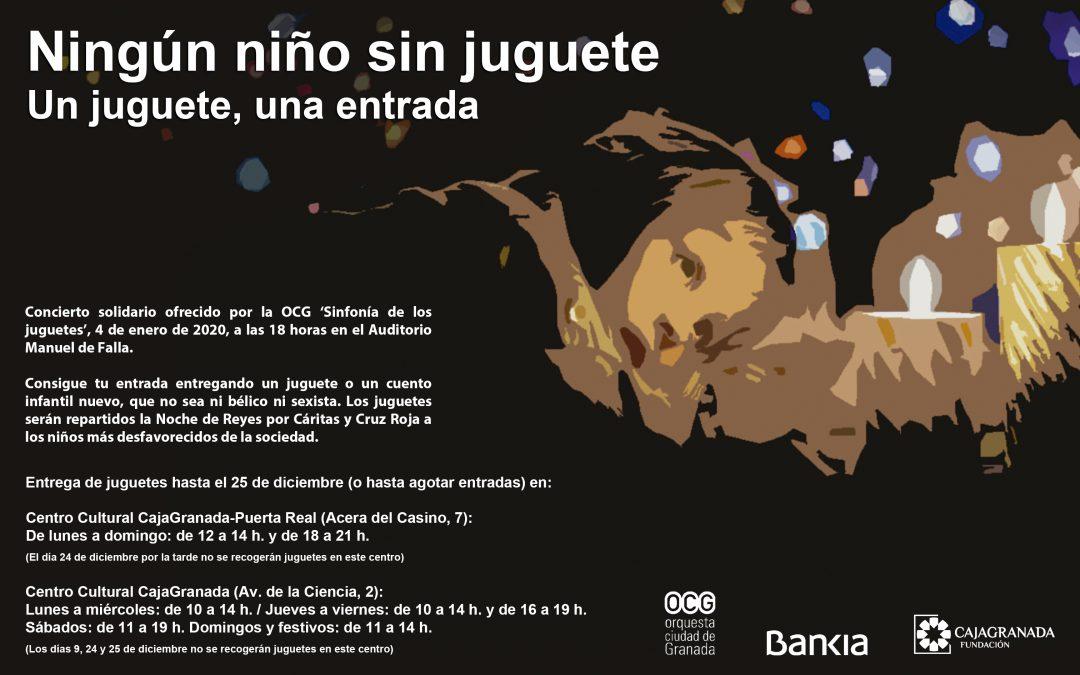 Bankia, CajaGranada Fundación y la Orquesta Ciudad de Granada (OCG) ponen en marcha la campaña 'Ningún niño sin juguete'
