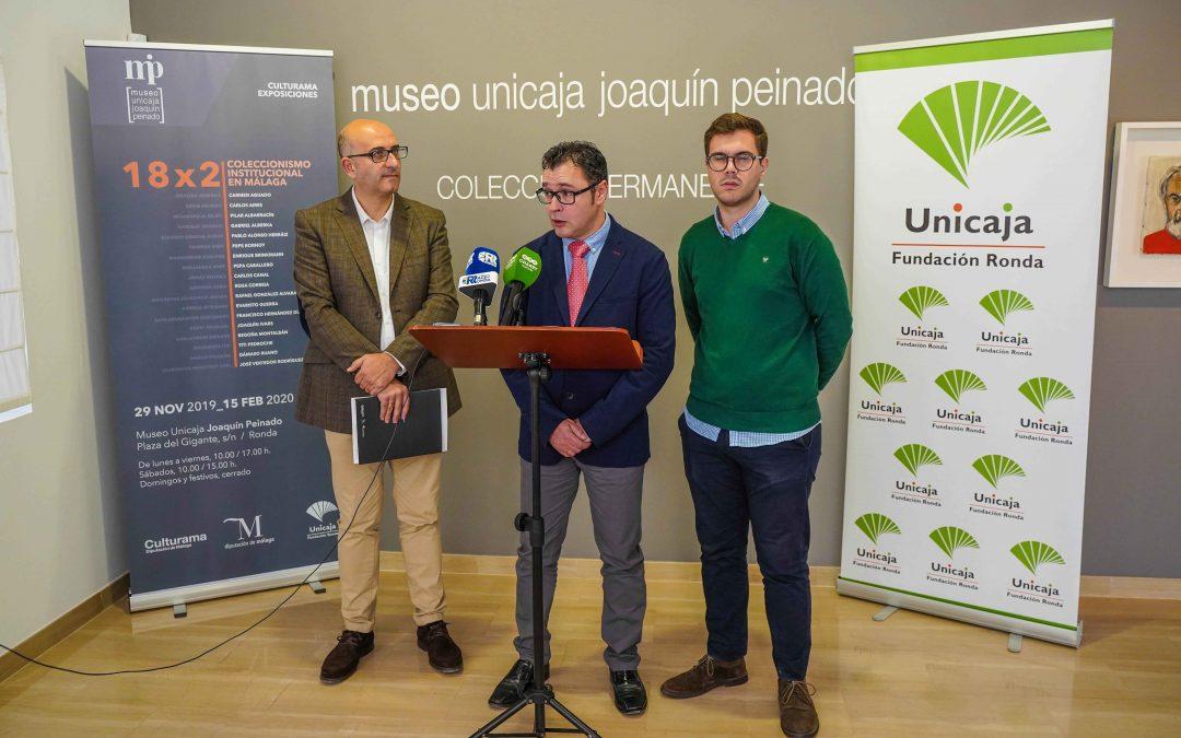 Fundación Unicaja y la Diputación de Málaga exhiben sus fondos de arte en Ronda con la exposición '18×2 Coleccionismo institucional en Málaga'