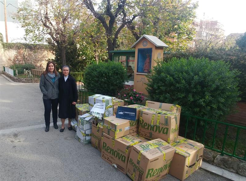 La Fundación Lamaignere hace entrega de las aportaciones realizadas en la campaña de recogida de alimentos y juguetes
