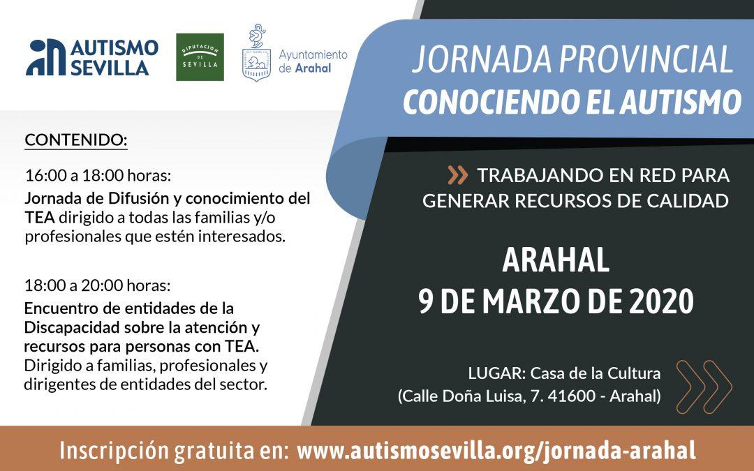 'Conociendo el Autismo', una jornada formativa que recorrerá la provincia de Sevilla de la mano de Autismo Sevilla y la Diputación