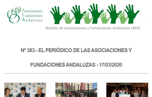 Publicado el número 383 del Periódico de las Fundaciones y Asociaciones Andaluzas