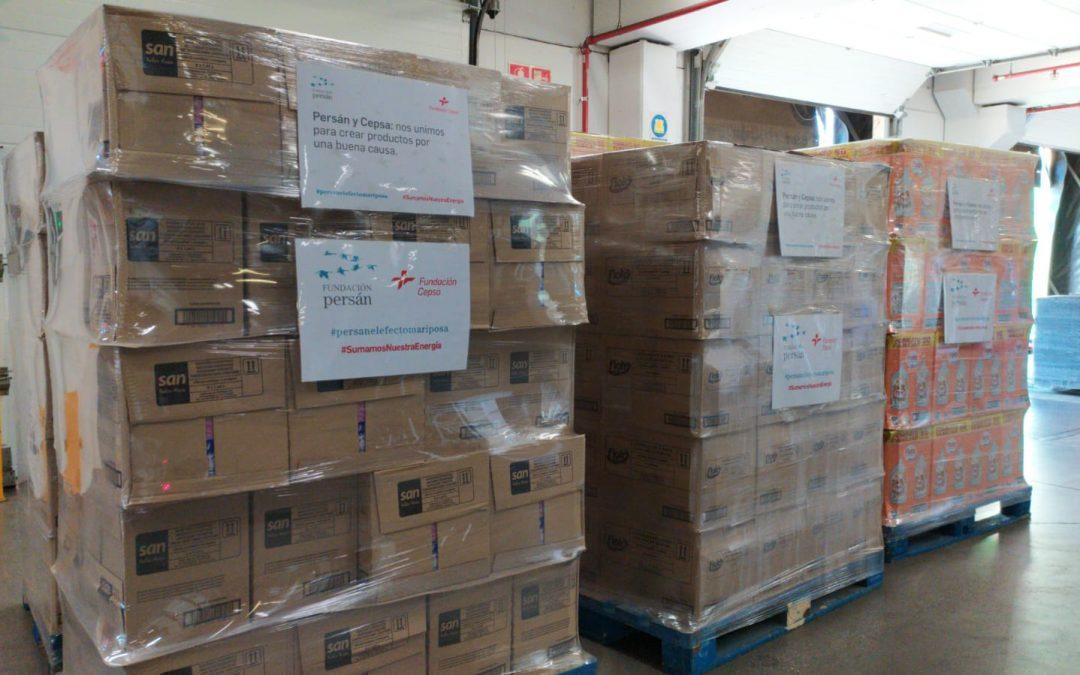Las fundaciones Persán y Cepsa abastecerán de detergente a 18.000 familias durante tres meses