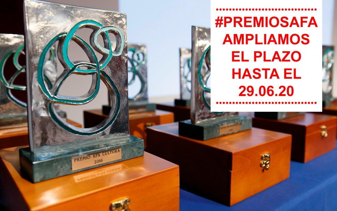 Ampliamos el plazo de los Premios AFA 2020