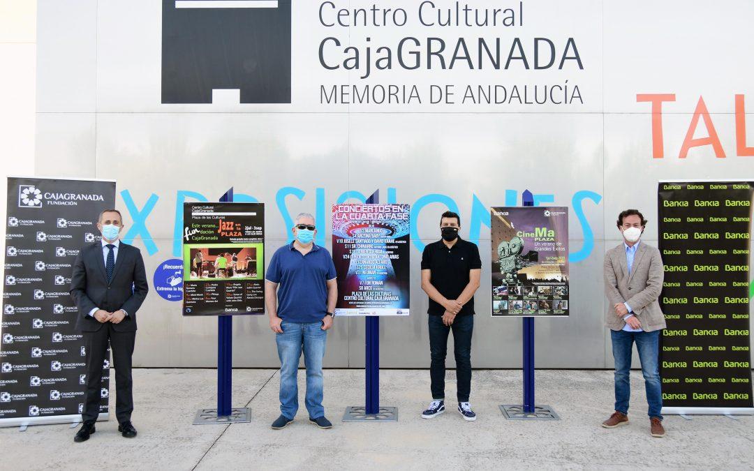 CajaGranada Fundación y Bankia duplican su oferta cultural para las noches de verano en la Plaza de las Culturas del Centro Cultural CajaGranada
