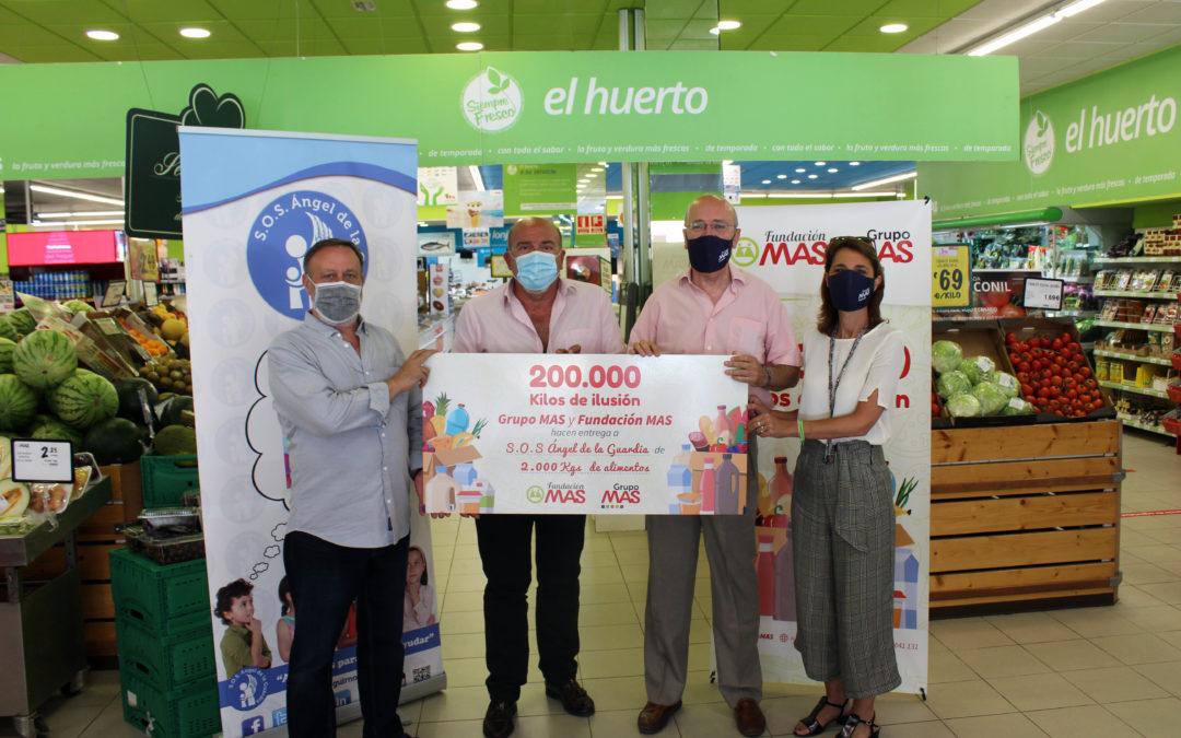 Grupo MAS llena el carro más solidario de SOS Ángel de la Guardia con 2.000 kg de alimentos