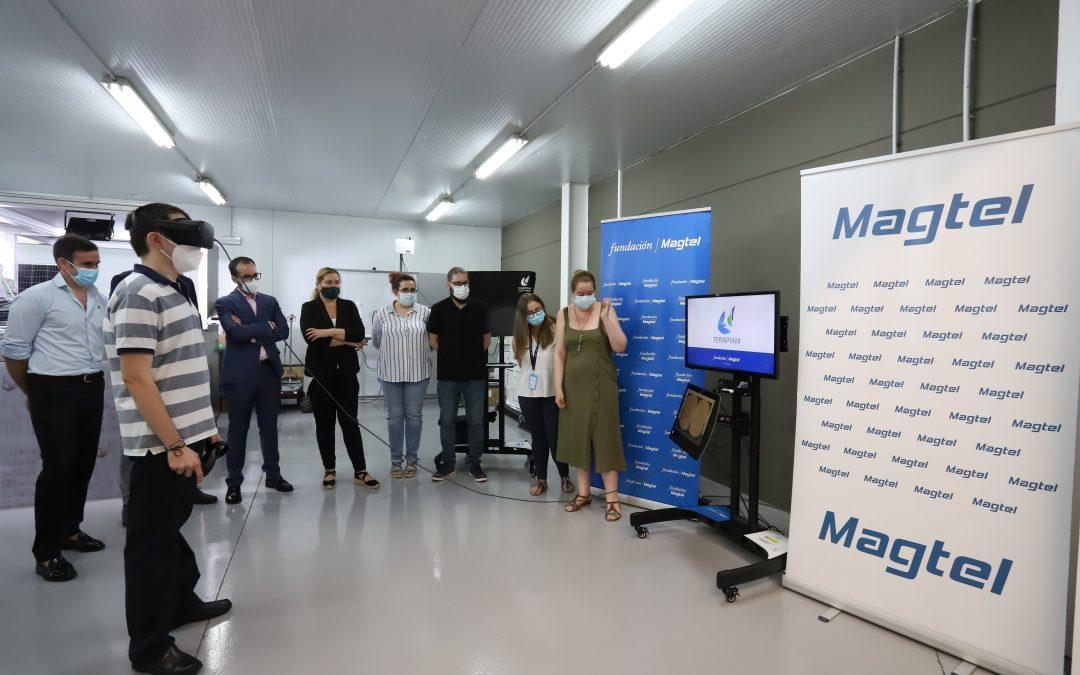 El delegado de Empleo de la Junta de Andalucía en Córdoba, Ángel Herrador, visita el proyecto Terapiam de Fundación Magtel