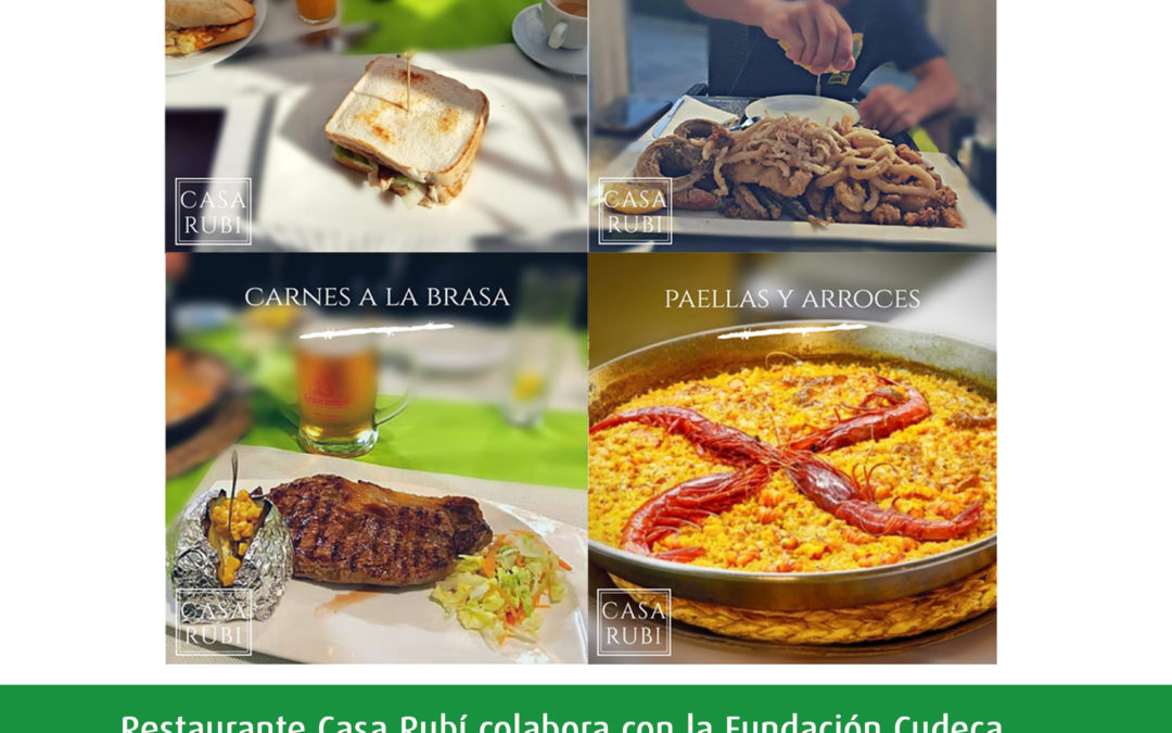 """""""Restaurantes Solidarios"""", la nueva iniciativa para ayudar a la Fundación CUDECA"""