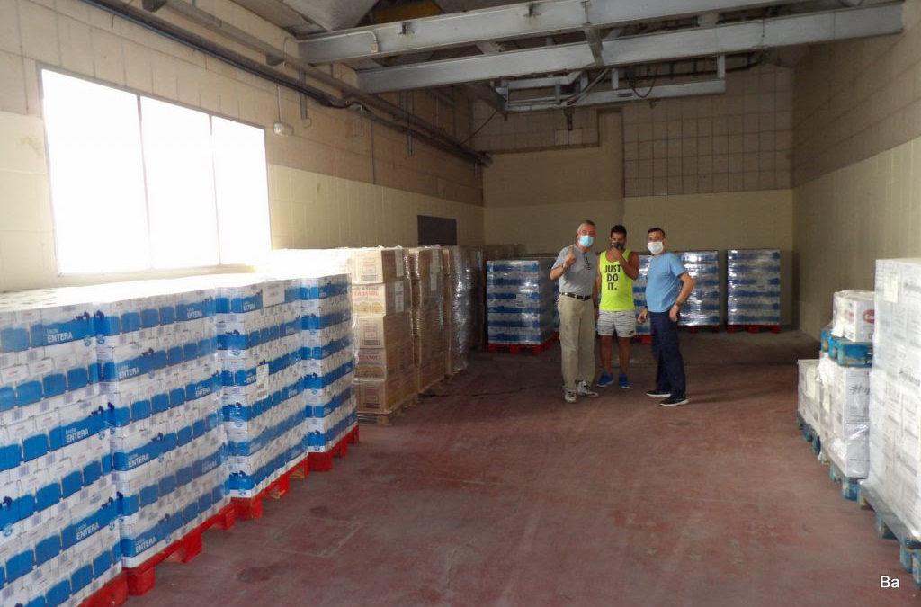 El Banco de Alimentos de Córdoba reparte 90.000 litros de leche solo en el mes de agosto