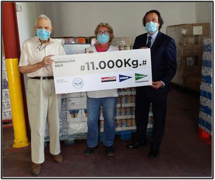 El Corte Inglés de Córdoba entrega 11.000 kilos de productos de primera necesidad al Banco de Alimentos