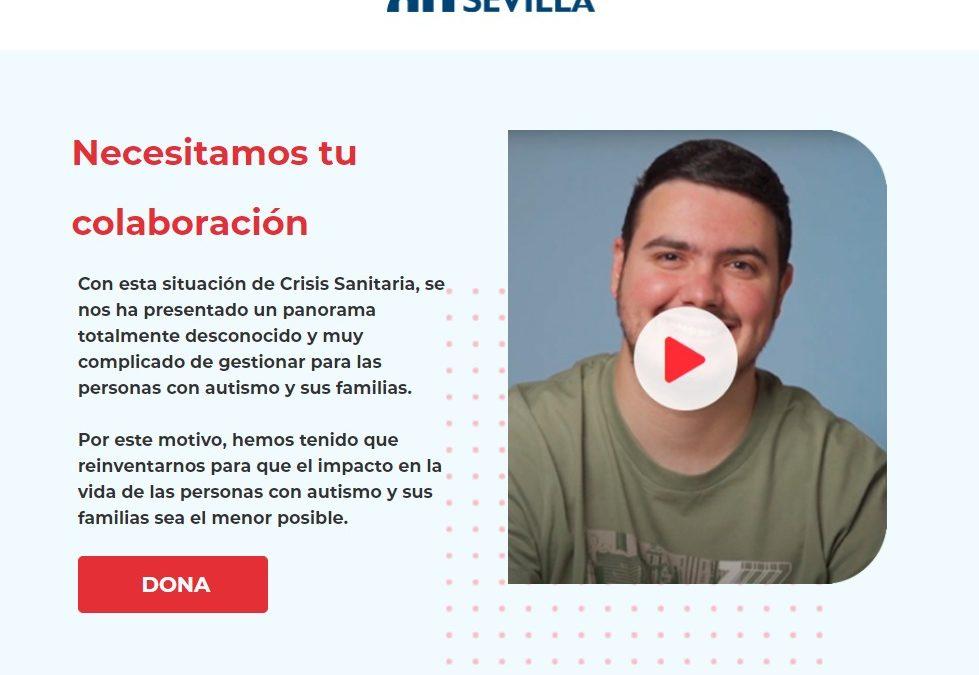 Autismo Sevilla lanza una campaña de captación de fondos para paliar la situación provocada por el coronavirus y poder seguir prestando apoyos de calidad a personas con TEA y sus familias