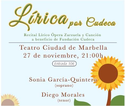 """Ópera y Zarzuela en la gala solidaria """"Lírica por Cudeca"""""""