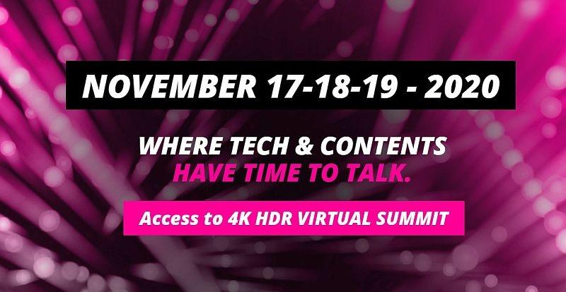 Fundación Audiovisual Pública Andaluza continúa su colaboración un año más con el 4K HDR Summit,