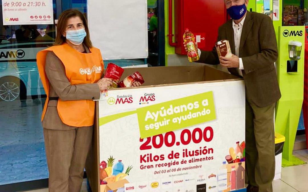 La corriente solidaria de Grupo MAS consigue triplicar su campaña de donación navideña gracias a sus proveedores,  trabajadores y clientes