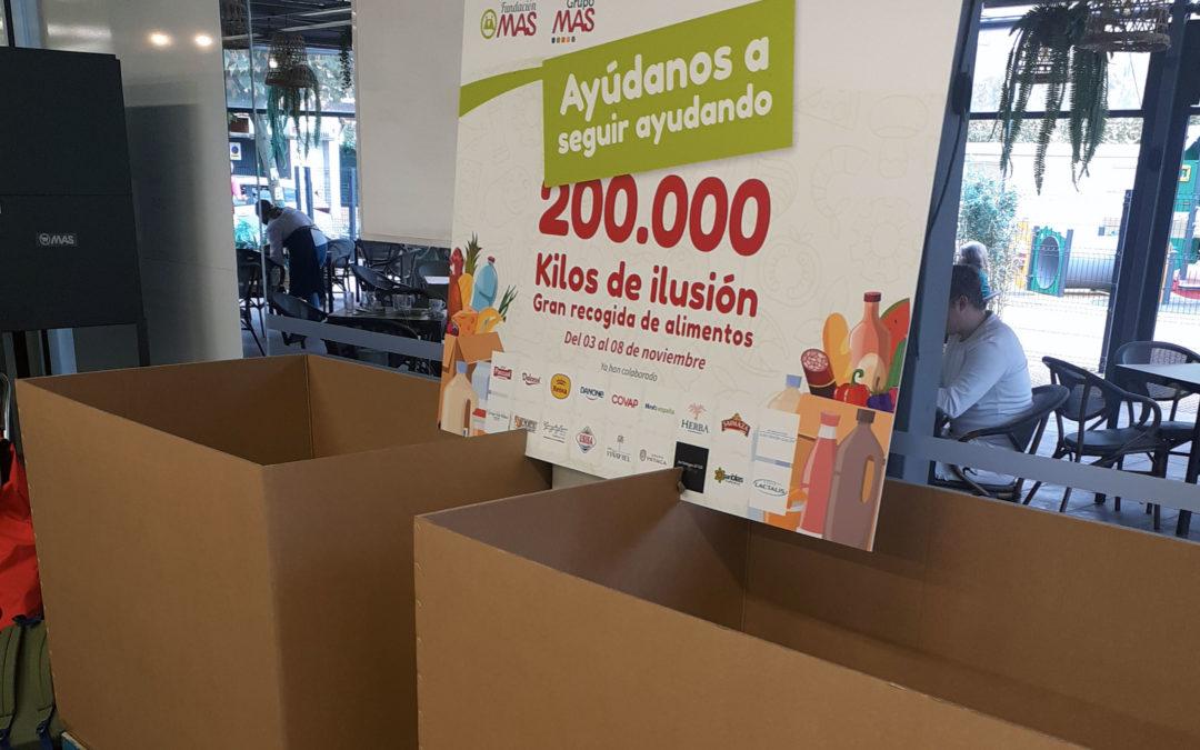 Grupo MAS organiza una gran recogida de alimentos en más de 130 supermercados MAS, MAS&Go y CASH FRESH de Andalucía y Extremadura