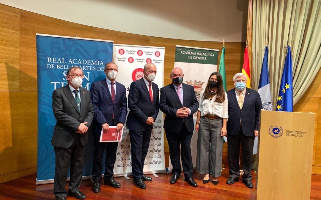 Los ganadores de los Premios Málaga de Investigación 2020 de Humanidades y Ciencias recogen sus galardones