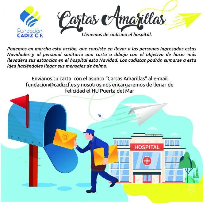 """La Fundación Cádiz CF pone en marcha la campaña """"Cartas amarillas por Navidad al Hospital"""""""