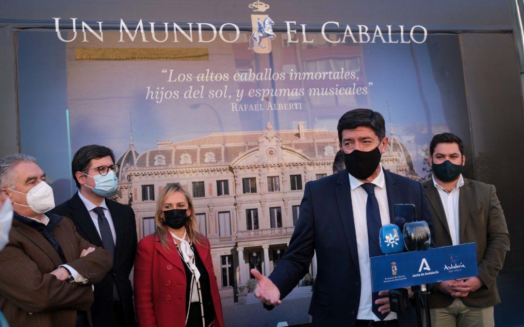 La Junta promociona la oferta de la Real Escuela de Arte Ecuestre de Jerez en el Metrocentro de Sevilla