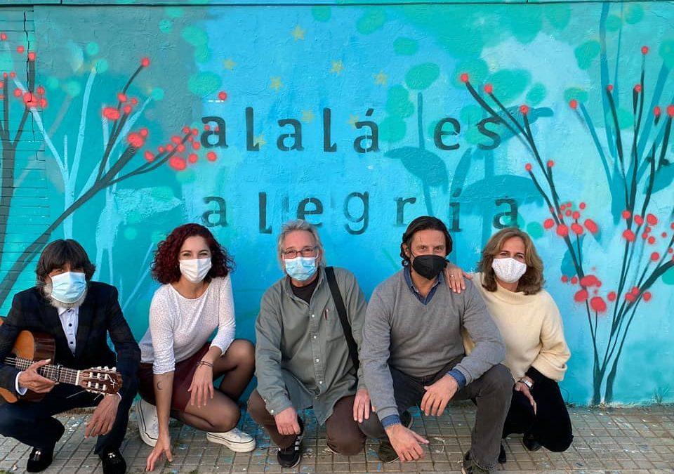 """Inaugurado en Polígono Sur el mural """"Alalá es Alegría"""" Dentro de los actos de la Fundación Alalá por el día de Andalucía"""
