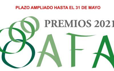 Ampliamos el plazo de los Premios AFA 2021 hasta el 31 de mayo