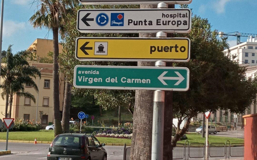 El edificio I+D+i del Campus Tecnológico se integra en la señalítica indicativa de la ciudad de Algeciras
