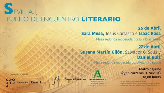 Seis destacados novelistas se dan cita  en las jornadas 'Sevilla: Punto de encuentro literario'