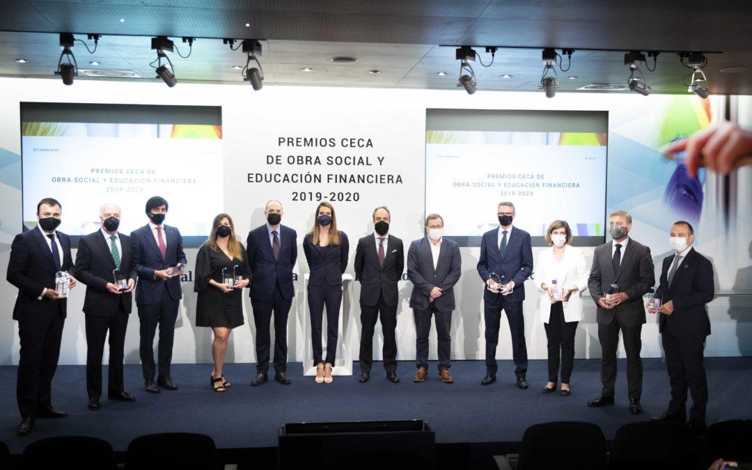 Reconocimientos a la Fundación Unicaja en los Premios CECA de Obra Social y Educación Financiera