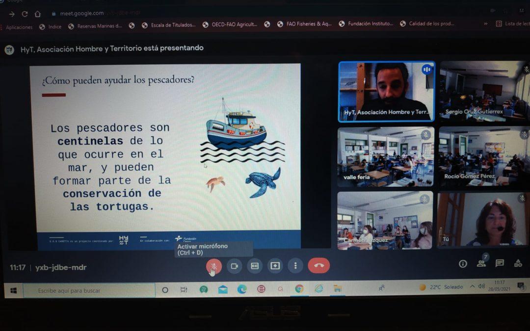 El proyecto `S.O.S Caretta ́ celebra el Día Mundial de las Tortugas Marinas junto a más  de 1.800 escolares