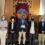 El alcalde de Córdoba, José María Bellido, recibe a los premios Loewe, que recitan sus poesías en la Fundación Antonio Gala
