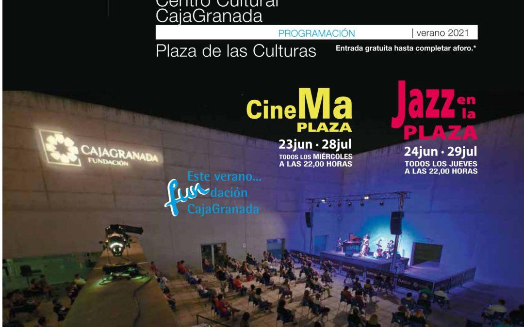 Vuelven las noches de cine y de jazz en directo a la Plaza de las Culturas del Centro Cultural CajaGranada