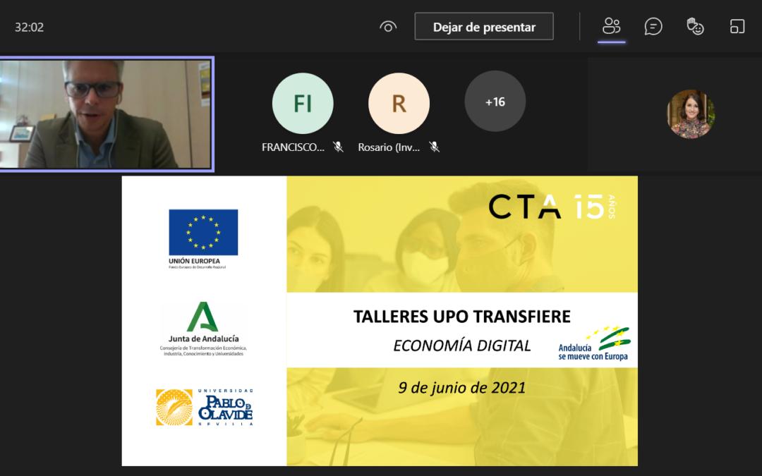 5 grupos de investigación de la UPO muestran sus capacidades tecnológicas en Economía Digital a empresas del sector