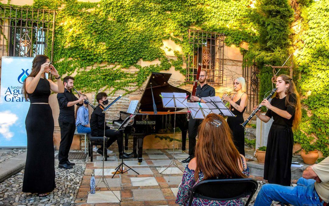 El grupo granadino Sexteto S ponía el contrapunto en los conciertos de la Fundación AguaGranada