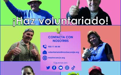 Madre Coraje relanza su campaña de voluntariado 'Contágiate de energía positiva' en busca de colaboración para atender sus tiendas solidarias