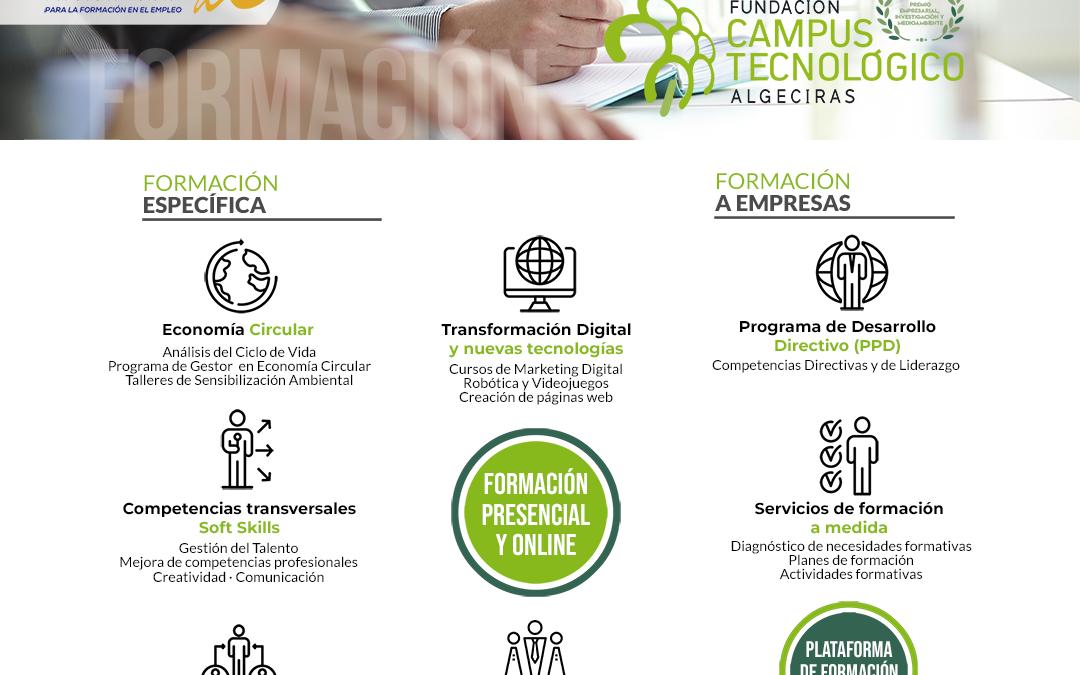 La Fundación Campus Tecnológico publica su nuevo catálogo formativo para el curso 2021/2022