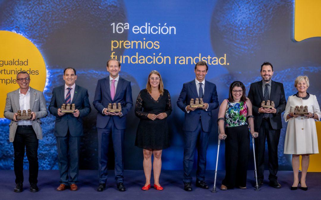 Fundación Randstad premia a Grupo Pelayo, Anudal Industrial, Pronisa Ávila, Balance Productions, Visualfy y Claudia Tecglen